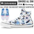コンバース オールスター 100 ミッキーマウス サーフィン HICONVERSE ALL STAR 100 MICKEY MOUSE SURFIN HI ブルーコンバース ミッキー スニーカー 靴