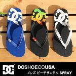 ディーシーサンダルレディースメンズディーシービーチサンダルシャワーサンダルビーサン海DCSPRAYスプレーDM171048BWTRSTBWBビーチサンダル靴