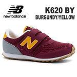 ニューバランスキッズスニーカーnewbalanceK620BRBURGUNDY/YELLOW靴子供靴ジュニアスニーカー