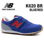 ニューバランスキッズスニーカーnewbalanceK620BRBLUE/RED靴子供靴ジュニアスニーカー