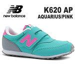 ニューバランスキッズスニーカーnewbalanceK620APAQUARIUS/PINK靴子供靴ジュニアスニーカー