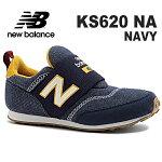ニューバランスキッズスニーカースリッポンnewbalanceKS620NANAVY靴子供靴ジュニアスニーカースリッポンシューズ