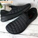 メレル MERRELL レディース ハット モック W HUT MOC W90802フェス アウトドア ライフスタイルシューズ キャンプモック TRIPLE BLACK