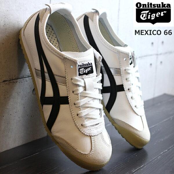 オニツカタイガーOnitsukaTigerMEXICO66DL408-0190WHITE/BLACKメキシコ66asicsスニー