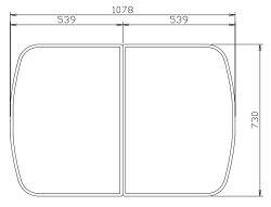 タカラスタンダード組み合わせ式風呂フタ(2枚組)フロフタMD-12W40503154