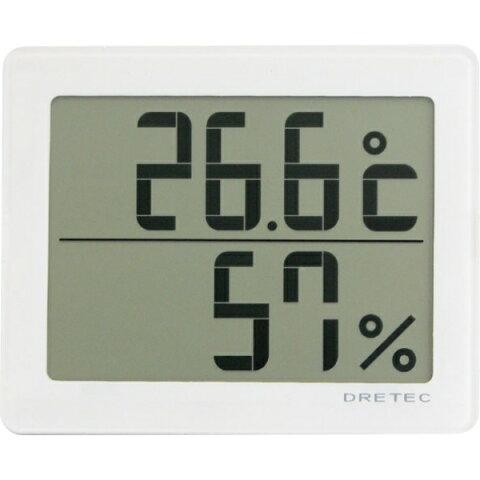 ドリテック(dretec) デジタル温湿度計「アクリア」 ホワイト O-226WT 【CP】