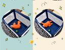 ◎5%ポイントUP ベビーサークル ハンモック式ベッド 折りたたみ たためる お昼寝マット ベビーサークル  キャスター付き ストッパー付き Harper&Bright Designs ベビーの楽園 3