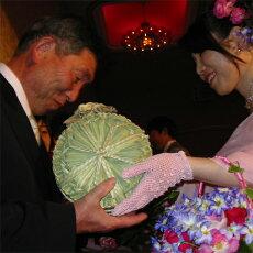 結婚式お客様の米俵