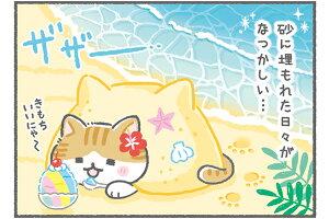 キジ白猫子猫プリザーブドフラワーとこなつからねこたつ南の島沖縄夏贈り物ケース付きフラワーアレンジメント猫好き花プレゼント母の日誕生日プレゼント保護猫へ寄付メモリアルにも対応お供えペット