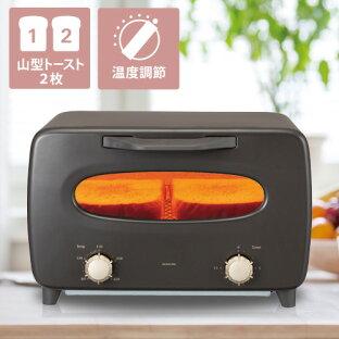 \背面スッキリデザイン/オーブントースター コイズミ おしゃれ おすすめ ブラウン | おしゃれ家電 送料無料 お菓子 クッキー トースター 人気 掃除 パン 2枚 温度調節 ハイパワー 1100W タイマー トースト 食パン KOS1101の画像