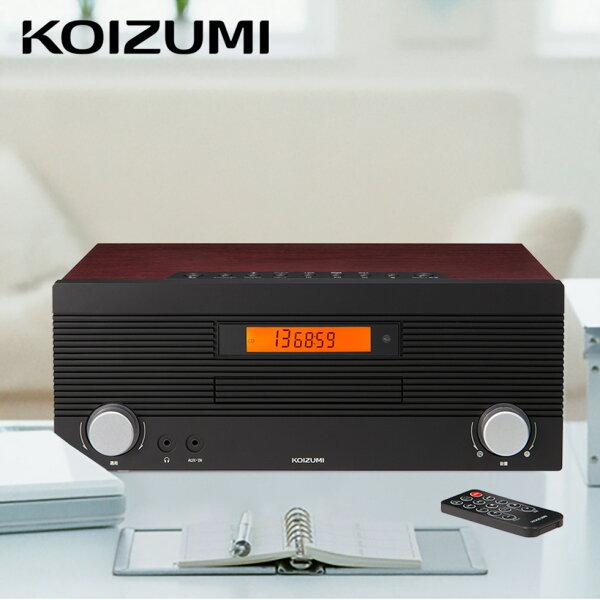 \オシャレな木目調/ 2020年新製品 Bluetooth付きCDラジオコイズミ(SDB-4708M)|レコードCDラジオFMb