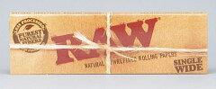 メール便対応・無添加【RAW】ロウ 手巻きタバコ用 巻紙 シングルワイドサイズ 70mm 50枚入