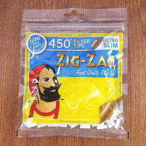 チャック袋タイプ【ZIG-ZAG】ジグザグ 手巻きタバコ用 ウルトラスリム フィルター 450個入...