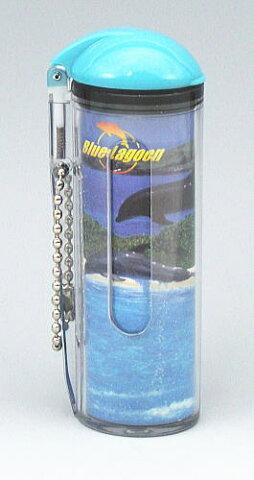 携帯灰皿 ワンハンド開閉 マナー ボールチェーン付 blue lagoon