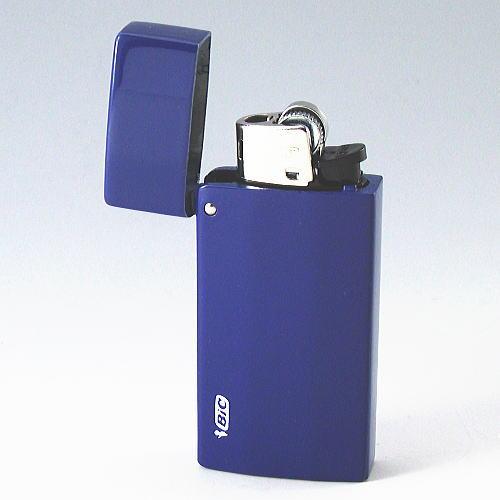 【BIC J25ミニライターを入れ替え交換可能 】ブルーカラー加工(青色) 重厚 ライターケース