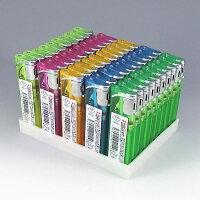 【使い捨て新CR対応】ワンタッチスライド式使いきり電子ライター50本セットELS-01プロメ100円ライター