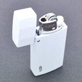 【BIC J25ミニライターを入れ替え交換可能 】ホワイトカラー加工(白色) 重厚 ライターケース【bicミニJ25ライターが1個付】