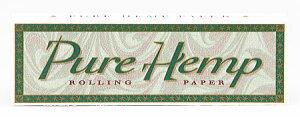 メール便対応【smoking pure・hemp】ピュアヘンプ 手巻きタバコ用 巻紙50枚入 シングルペー...