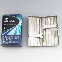 【TEAMPISTOL】メタル製シガレットケース【ウェーブ型】85ミリ10本用