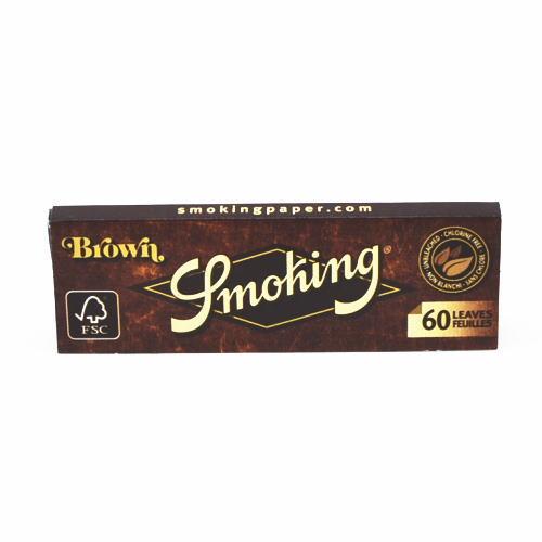 【Smoking】スモーキング手巻きタバコ巻紙60枚入No.8ブラウンSmoking・BrownUnbleached70mmペーパーシングル手巻きたばこ