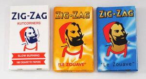 メール便対応【10%OFF】ZIG-ZAG ジグザグ 手巻きタバコ用 巻紙 ダブルサイズ 69mm 100枚入