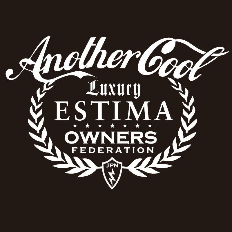 カッティングステッカー 210×300サイズ トヨタ(TOYOTA)エスティマ ESTIMA anothercool 車 カー ステッカー アクセサリー シール ガラス[◆]画像