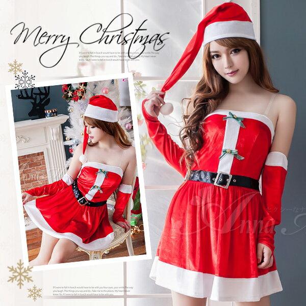 サンタハロウィンコスプレセットs014サンタクロースクリスマスコスチュームサンタ衣装サンタ衣装