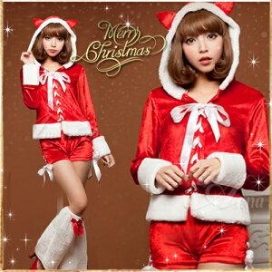 ハロウィン サンタ/コスプレ/衣装/セット/s023/サンタクロース/クリスマス/コスチューム/サンタ...