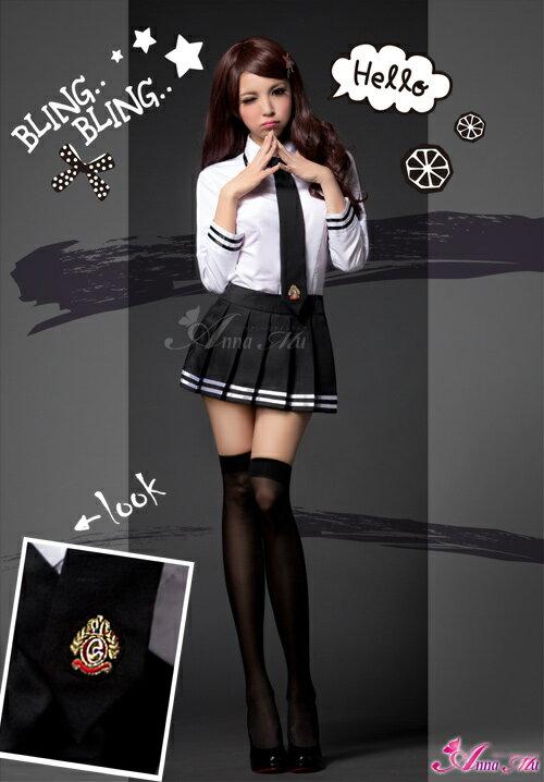 セーラー服制服女子高生長袖白黒z1166ハロウィンコスプレ衣装コスチューム【テイストセクシー】こすぷれ