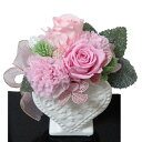 母の日 お祝い 送料無料  母の日プリザ ・カーネーション・ピンク・プリザーブドフラワー