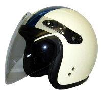 スモールジェットヘルメットSJ-67Sアイボリー/ネイビー2本ライン