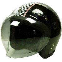 スモールジェットヘルメットSJ-68BMBK/チェッカー