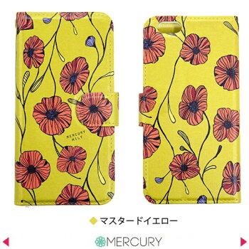 iphone7iphone6sケース手帳型【ポピー花柄手帳ケース】iPhone6splusケースiPhone7PlusケースiPhone5手帳型ケースアイフォン7ケースiPhonese手帳型xperia