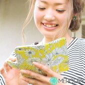 iPhone6s【花柄手帳ケースレッド】【送料無料】ケース手帳型Phonecace
