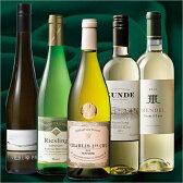 【P10倍】【送料無料】世界高級白ワイン豪華5本福袋[白ワイン][ワインセット] 【7782724】※ご注文より2週間前後でお届け