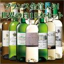 【限定300セット】決算大放出!フランス金賞受賞5本入り!世界の白ワイン飲み比べ12本セット【7777676】