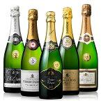 【送料無料】すべて金賞!高級辛口シャンパーニュ飲み比べ豪華5本セット 第4弾 [シャンパン][高級ワイン][スパークリングワイン][白・辛口・発泡] 【7792099】