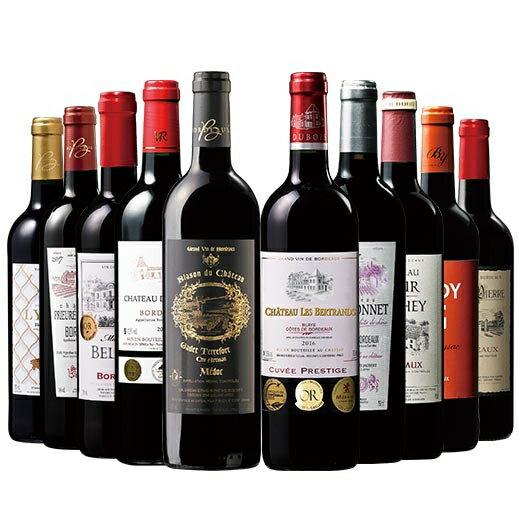 【  】【50%OFF】当たり年&格上メドック&トリプル金賞入り!ボルドー最強級赤10本セット 【7789683】 赤ワイン ワインセット フルボディ