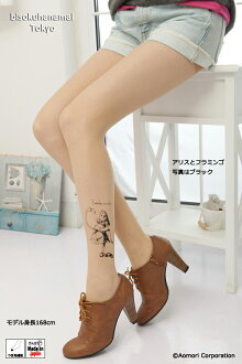 It is ♪ pattern tights pattern shear tights stockings tights tattoo tattoo stockings Lady's tattoo stocking tattoo tights ladies Alice ♪ -Z fs3gm by Alice and the flamingo pattern (a pattern becomes available to the left foot) ♪ 1,050 yen purchase, choice