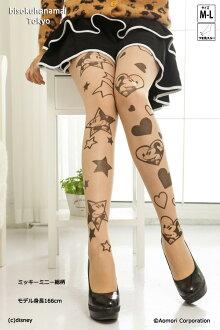 キラキラハートミッキーミニー pattern! with purchase at select ♪ pattern tights pattern pantyhose sheer tights-Japan tattoo stockings tights Womens tattoo stocking tights ladies mickey mouse 30 anniversary ♪-z fs3gm