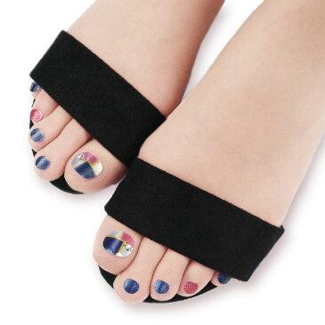 プリントネイル ストッキング (スクエアー)(5本指・パンストタイプ・UV対策・伝線しにくい・抗菌防臭)(日本製 Made in Japan) シアータイツ タトゥータイツ レディース fake nail stocking tights five toe ladies