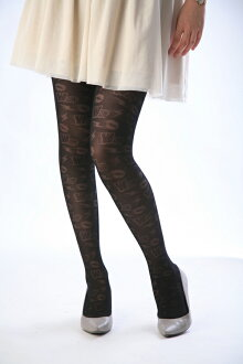 -Black 40 denier tights RIP slash! pattern tights patterned stockings sheer tights tights stockings design made in Japan stocking tights ladies!-ZB