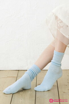 【クシュクシュ履き専用】ルーズ風クルーソックス(全5色) ( レディース 日本製 ) (クルー丈 ショートソックス おしゃれ かわいい 靴下 loose socks ladies short)