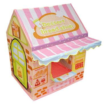 お店屋さんごっこ おもちゃ キッズテント ケーキ屋さん ままごと 知育玩具 ごっこ遊び おみせやさん 組立て式 チャイム 呼び出し キッズハウス _85272