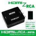 HDMI 変換 RCA コンポジット アナログ ダウンスキャンコンバータ USBケーブル付スマートフォン PC DVDプレーヤー テレビ カーナビ 車載モニター 変換コンバーター 変換アダプタ 変換器 変換機 _83151