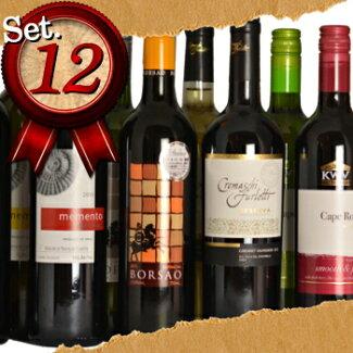 [送料無料・ワイン12本セット飲み比べ販売]おすすめディリーワイン(赤ワイン6本白ワイン6本)チリ、南アフリカ、スペイン、アルゼンチン、カリフォルニア