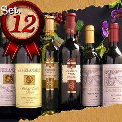 テーブルワイン フランス、イタリア、チリン赤6本、白6本デイリーワインにオススメ、ワインセ...