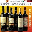 【アクアヴィタエ店主厳選 】金賞受賞イタリアスペイン赤ワイン6本セット