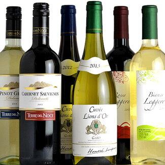 ふだん飲みデイリーワイン6本セットV06イタリア、フランス、チリワイン6本セット送料無料