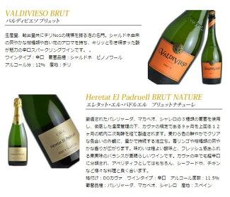 アクアヴィタ厳選シリーズ辛口本格スパークリングワイン3本セットワインセット送料無料